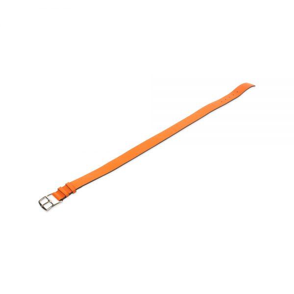 Orange Etrivière Leather Belt by Hermès at Le Dressing Monaco
