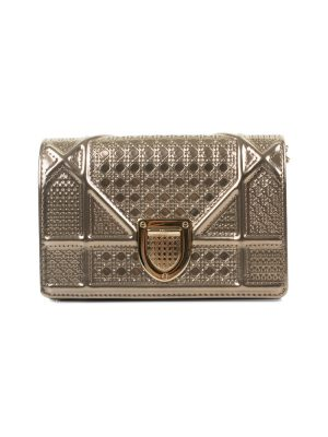 Gold Mini Diorama Handbag by Christian Dior Le Dressing Monaco