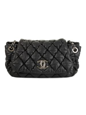 Quilted Black Leather Flap Bag by Chanel at Le Dressing Monaco