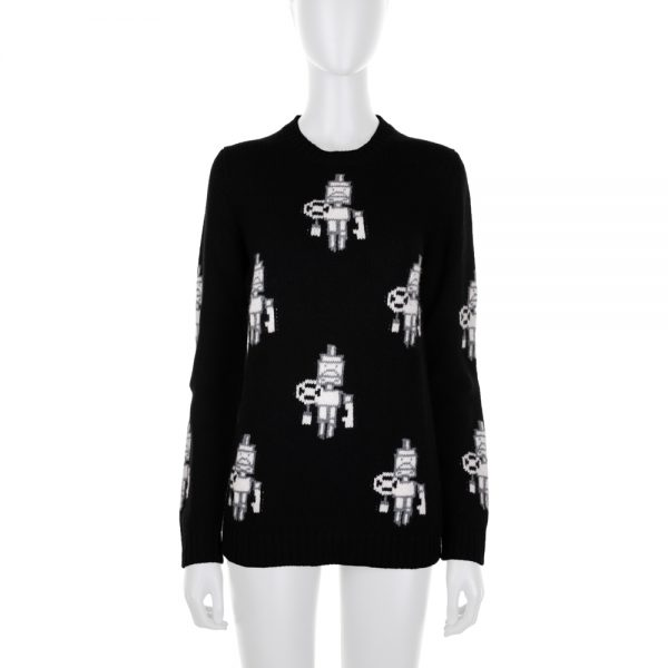 Robot Knitted Wool Jumper by Prada at Le Dressing Monaco