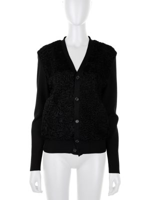 Black Astrakan Cardigan by Prada - Le Dressing Monaco