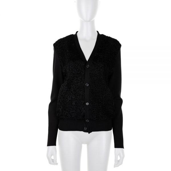 Black Astrakan Cardigan by Prada - Le Dressing Monaco