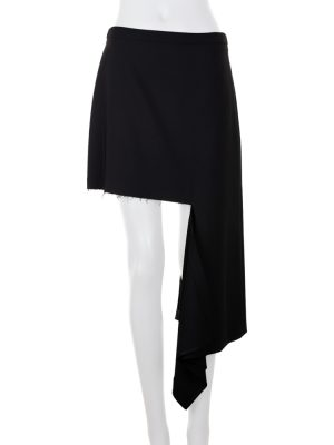 Ripped Asymmetric Wool-Blend Mini Skirt by Balenciaga - Le Dressing Monaco