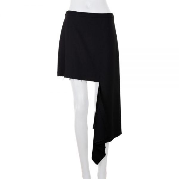 Ripped Asymmetric Wool-Blend Mini Skirt by Balenciaga - Le Dressing Monaco