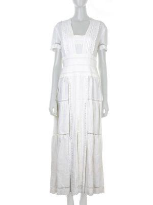 Long Cotton White Chanel Dress - Le Dressing Monaco