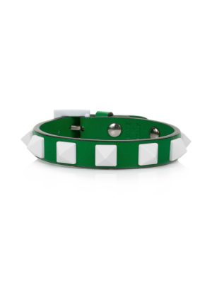 Green and White Spike Bracelet by Valentino - Le Dressing Monaco