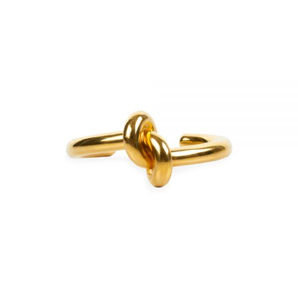Gold Plated Knot Bracelet by Céline at Le Dressing Monaco