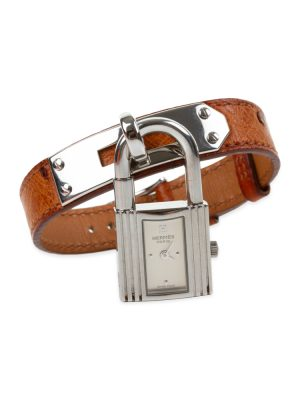 Kelly Watch Simple Strap Gold Ostrich Leather by Hermès at Le Dressing Monaco