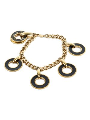 Gold Plated Bracelet With Circles by Dolce e Gabbana at Le Dressing Monaco