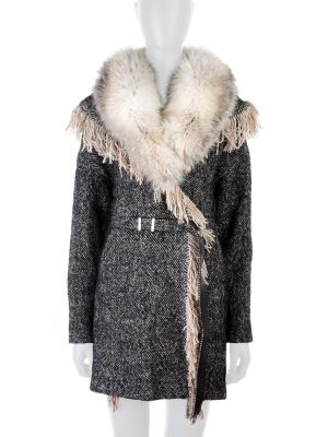 Tweed Coat with Fur by Ermanno Scervino - Le Dressing Monaco