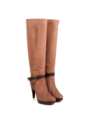 Dior Python Boots with Calf Leather Details - Le Dressing Monaco