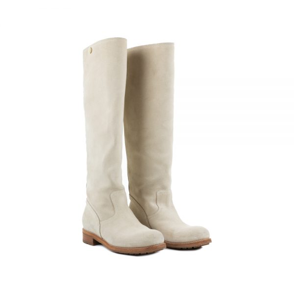 Beige Suede Boots by Jimmy Choo - Le Dressing Monaco