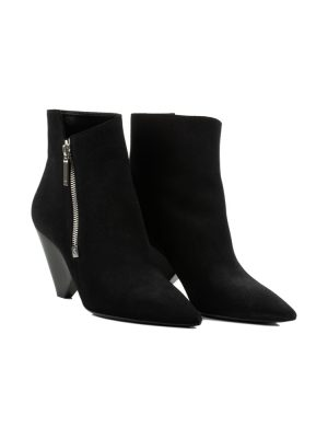 Niki Black Suede Ankle Boots by Saint Laurent - Le Dressing Monaco