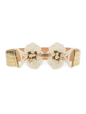Flower And Insect Buckle Gold Belt by Cavalli - Le Dressing Monaco