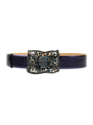 Skull Strass Buckle Leather Belt by Cavalli - Le Dressing Monaco