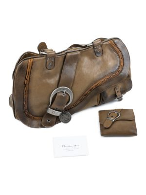 Big Saddle Leather Handbag With Wallet by Christian Dior - Le Dressing Monaco