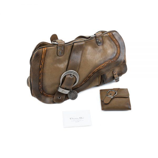 Big Saddle Leather Handbag With Wallet by Christian Dior - Le Dressing Monaco