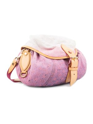 Denim Pink Sunshine Messenger Handbag by Louis Vuitton - Le Dressing Monaco