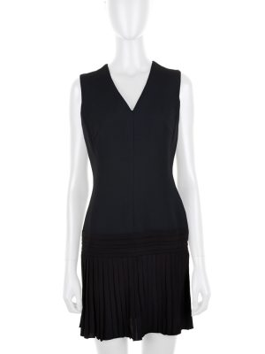 V Neck Sleeveless Pleated Cocktail Dress by Christian Dior - Le Dressing Monaco