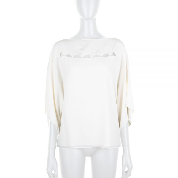 Milk Silk Top With Small Openings by Chloé - Le Dressing Monaco