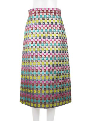 G Multicolor Velvet And Lurex Skirt by Gucci - Le Dressing Monaco