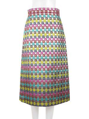 Knee Length Luxor Metallic Multicolor Skirt by Gucci - Le Dressing Monaco