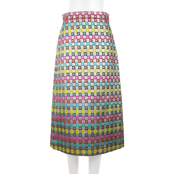 G Multicolor Velvet And Lurex Skirt by Gucci - Le Dressing Monaco