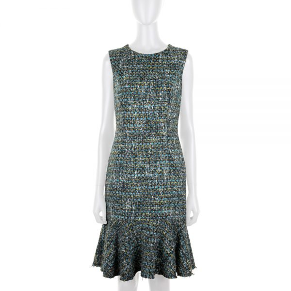 Sleeveless Tweed Dress by Dolce e Gabbana - Le Dressing Monaco