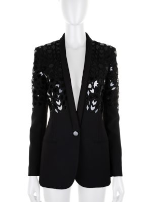 Laser Cut Plexi Embroidered Blazer by Barbara Bui - Le Dressing Monaco