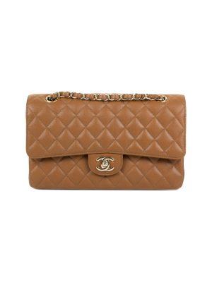 Brown Medium Caviar Flap Bag by Chanel - Le Dressing Monaco