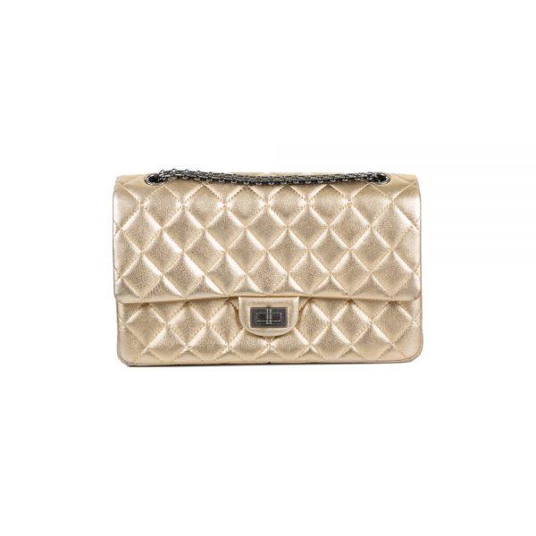 Gold Medium Flap Bag by Chanel - Le Dressing Monaco