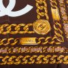 Brown Gold Chain Silk Scarf by Chanel - Le Dressing Monaco