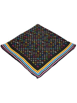 Multicolored Monogram Silk Scarf by Louis Vuitton - Le Dressing Monaco