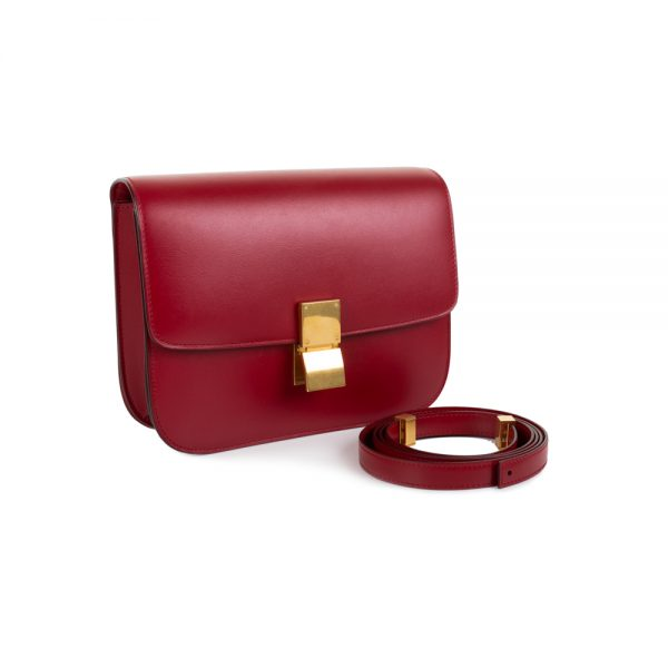 Red Crossbody Luggage Handbag by Céline - Le Dressing Monaco