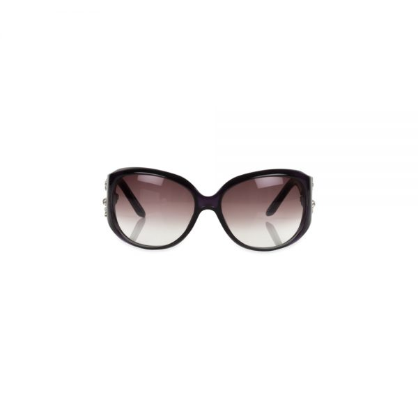 Dior Limited Purple Strass Sunglasses by Christian Dior - Le Dressing Monaco