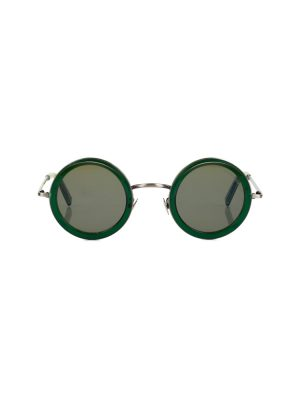 Green Round Sunglasses by Cutler and Gross - Le Dressing Monaco