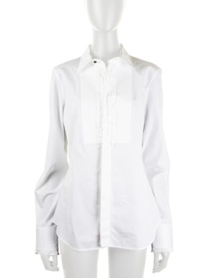 White Shirt With Ruffles by Dsquared2 - Le Dressing Monaco