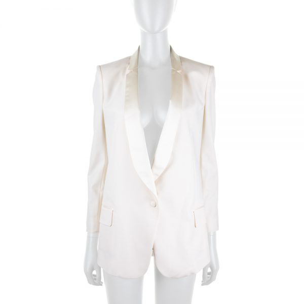 Off White Smoking Jacket by Vionnet - Le Dressing Monaco