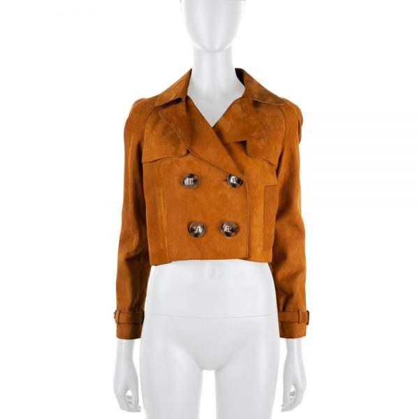 Cropped Suede Leather Trench by Burberry Brit - Le Dressing Monaco