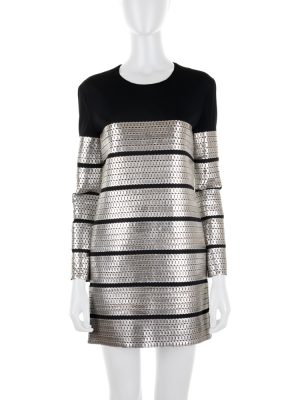 Mini Black Dress With Silver Chains by Tom Ford - Le Dressing Monaco