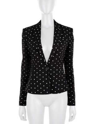 White Printed Crosses Blazer by Givenchy - Le Dressing Monaco
