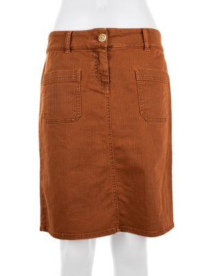 Rust Mini Jeans Skirt by Chanel - Le Dressing Monaco