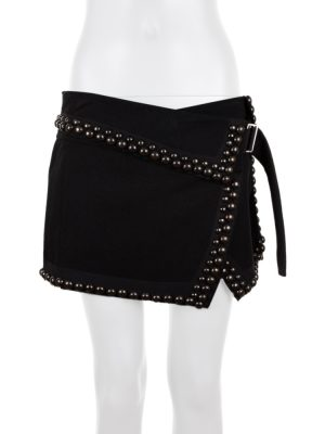 Studded Black Mini Skirt by Isabel Marant - Le Dressing Monaco