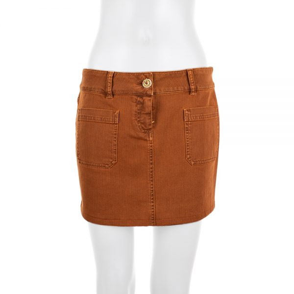 Rust Mini Jeans Skirt by Chanel - Le Dressing Monaco