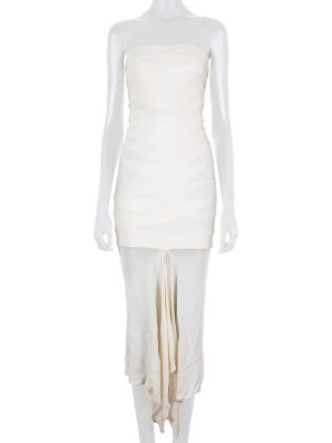 Long Bustier Bandage Dress by Hervé Leger - Le Dressing Monaco