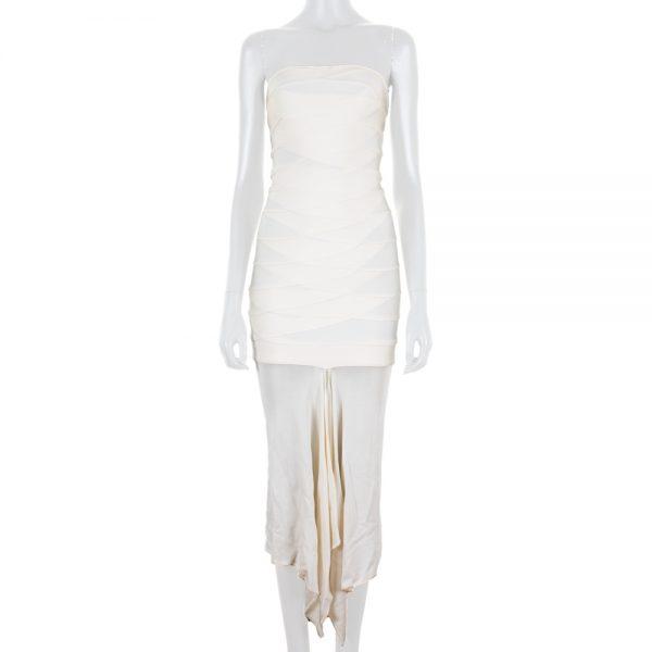 Long Bustier Bandage Dress by Hervé Leger - Le Dressing Monaco
