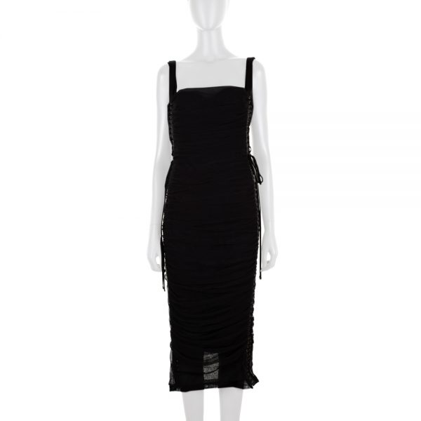 Tight Tulle Dress Laced On Sides by Dolce e Gabbana - Le Dressing Monaco