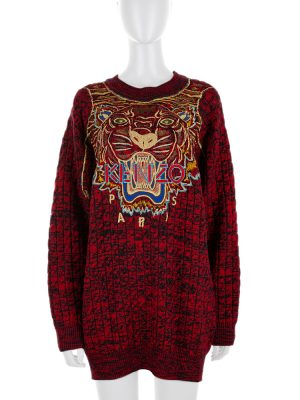 Mixed Red and Black Tiger Knit by Kenzo - Le Dressing Monaco