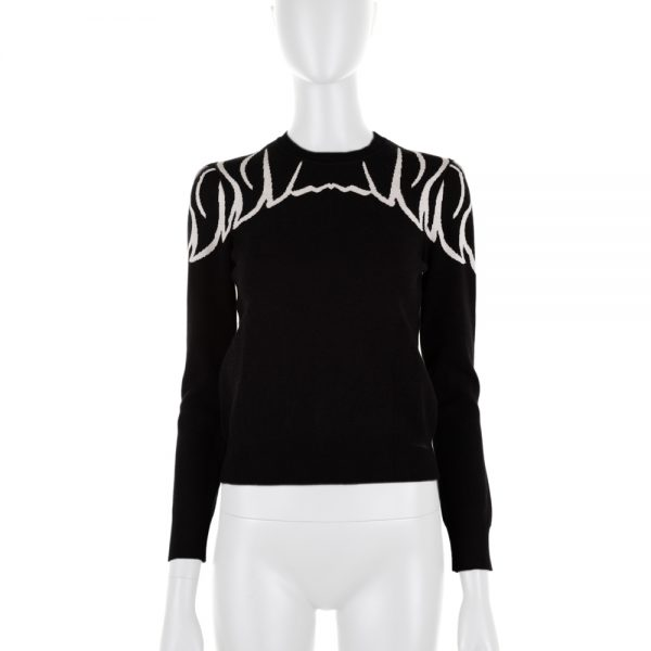 Black And White Jumper by Red Valentino - Le Dressing Monaco