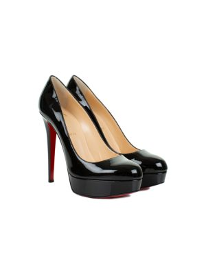 Black Patent Leather Plateau Pumps by Christian Louboutin - Le Dressing Monaco